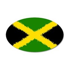 Flag of Jamaica 22x14 Oval Wall Peel