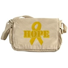 Hope Yellow ribbon Messenger Bag