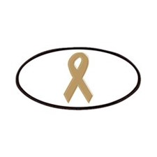 Gold Awareness Ribbon Patches