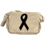 Black Awareness Ribbon Messenger Bag