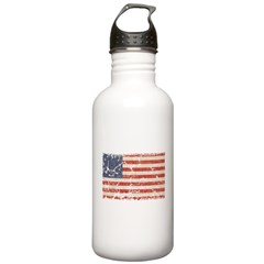 13 Colonies US Flag Distresse Water Bottle