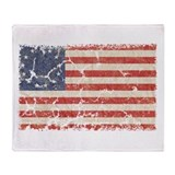 13 Colonies US Flag Distresse Throw Blanket