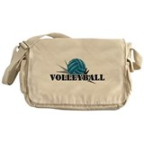 Volleyball starbust blue Messenger Bag