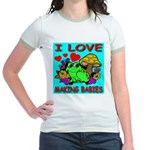 I Love Making Babies Jr. Ringer T-Shirt