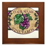 Your Vineyard Framed Tile