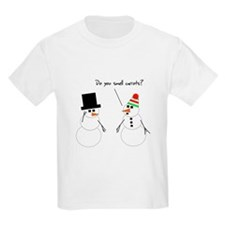 Snowman Smells Carrots T-Shirt