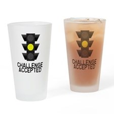 Challenge Accepted Yellow Lig Drinking Glass