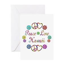 Peace Love Hawaii Greeting Card