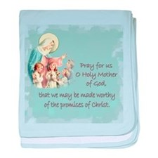 Pray for Us baby blanket