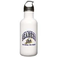 US Navy Seabees Blue and Gold Water Bottle