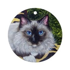 Birman Ragdoll Cat Christmas Ornament