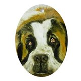 Saint Bernard Dog Tag's Cats Christmas Ornament