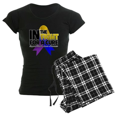 In The Fight - Bladder Cancer Women's Dark Pajamas