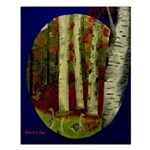 Birch Tree Delight Gifts Small Poster
