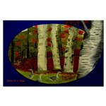 Birch Tree Delight Gifts Large Poster
