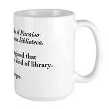 Borges library quote-Bilingual Mug