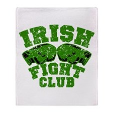 Irish Fight Club Throw Blanket