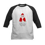 Grumpy Santa Kids Baseball Jersey