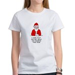 Grumpy Santa Women's T-Shirt