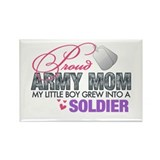 Unique Army fiancee Rectangle Magnet