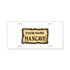 Mancave Sign Aluminum License Plate