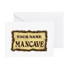 Mancave Sign Greeting Card