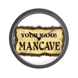 Mancave Sign Wall Clock