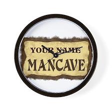 Mancave Sign Wall Clock