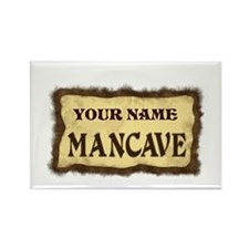 Mancave Sign Rectangle Magnet
