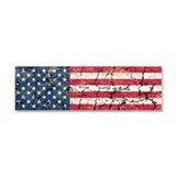 US Flag Distressed Car Magnet 10 x 3