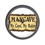 I Rule My Cave Wall Clock