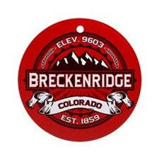 Breckenridge Red Ornament (Round)