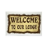 Lodge Welcome Rectangle Magnet