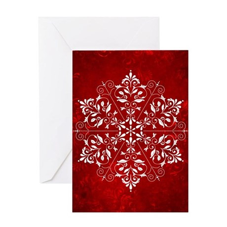 Elegant Snowflake Greeting Card