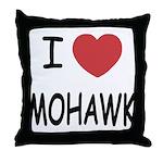 I heart mohawk Throw Pillow