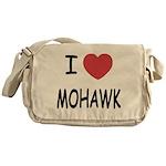 I heart mohawk Messenger Bag