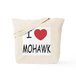I heart mohawk Tote Bag