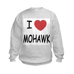 I heart mohawk Kids Sweatshirt