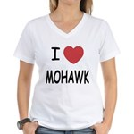I heart mohawk Women's V-Neck T-Shirt