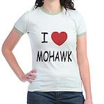 I heart mohawk Jr. Ringer T-Shirt