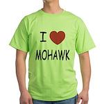 I heart mohawk Green T-Shirt