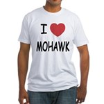 I heart mohawk Fitted T-Shirt