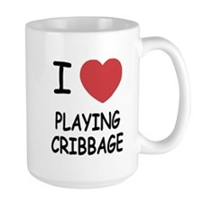 I heart playing cribbage Mug