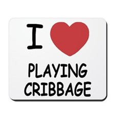 I heart playing cribbage Mousepad