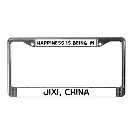 Happiness is Jixi License Plate Frame