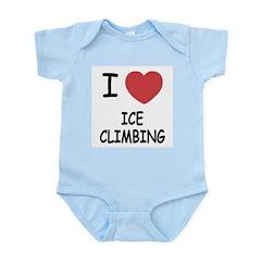 I heart ice climbing Infant Bodysuit