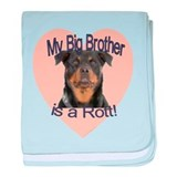 Rottweiler Brother baby blanket