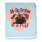Pug Brother baby blanket