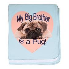 Pug Brother baby blanket