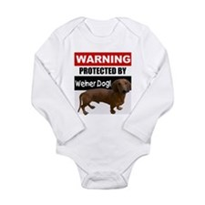 Protected by Weiner Dog Onesie Romper Suit